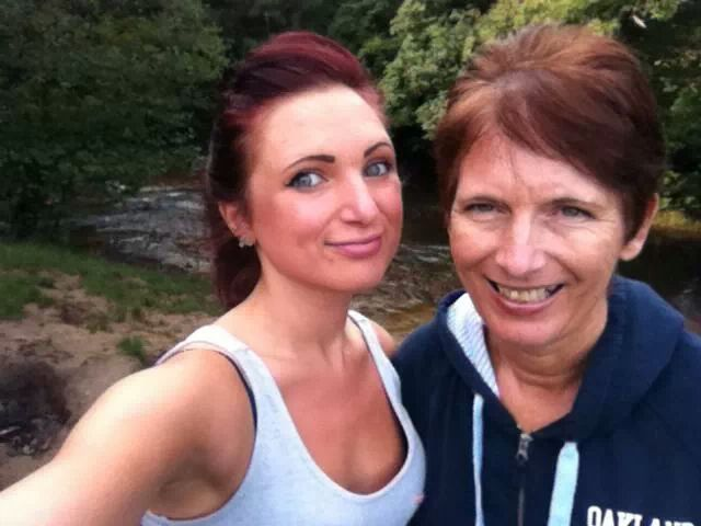 Mum and I out walking!
