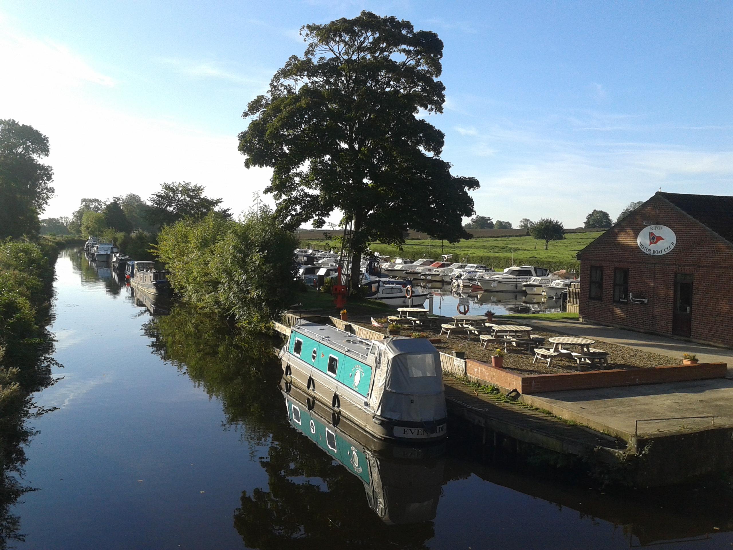 Canal flowing through Ripon