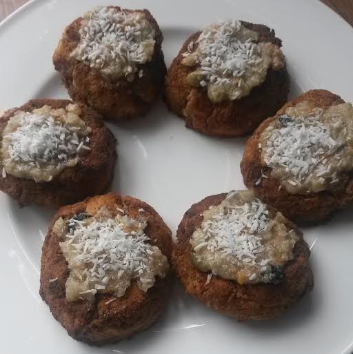 vanilla apricot flaxseed cookies
