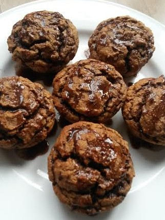 protein banana nutella muffins 2