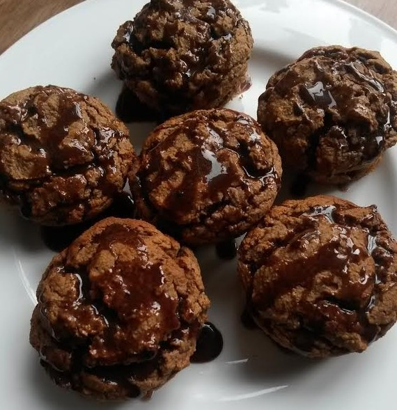 protein banana nutella muffins
