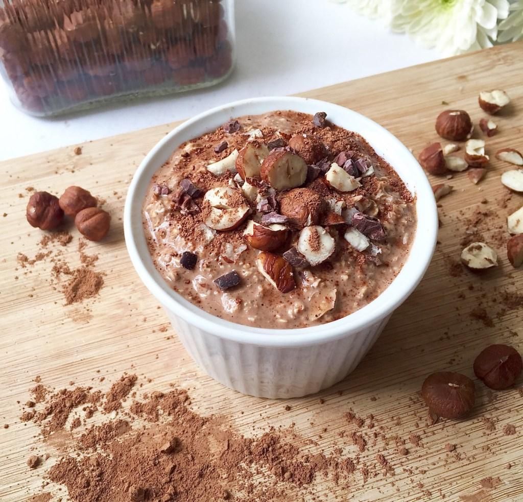 Chocolate Hazelnut Overnight Oats - Charley's Health