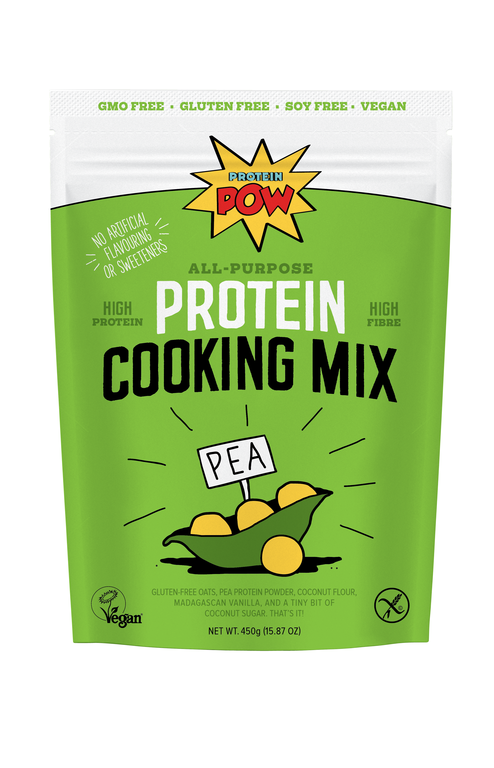 FRONT: Pea Protein Cooking Mix pack