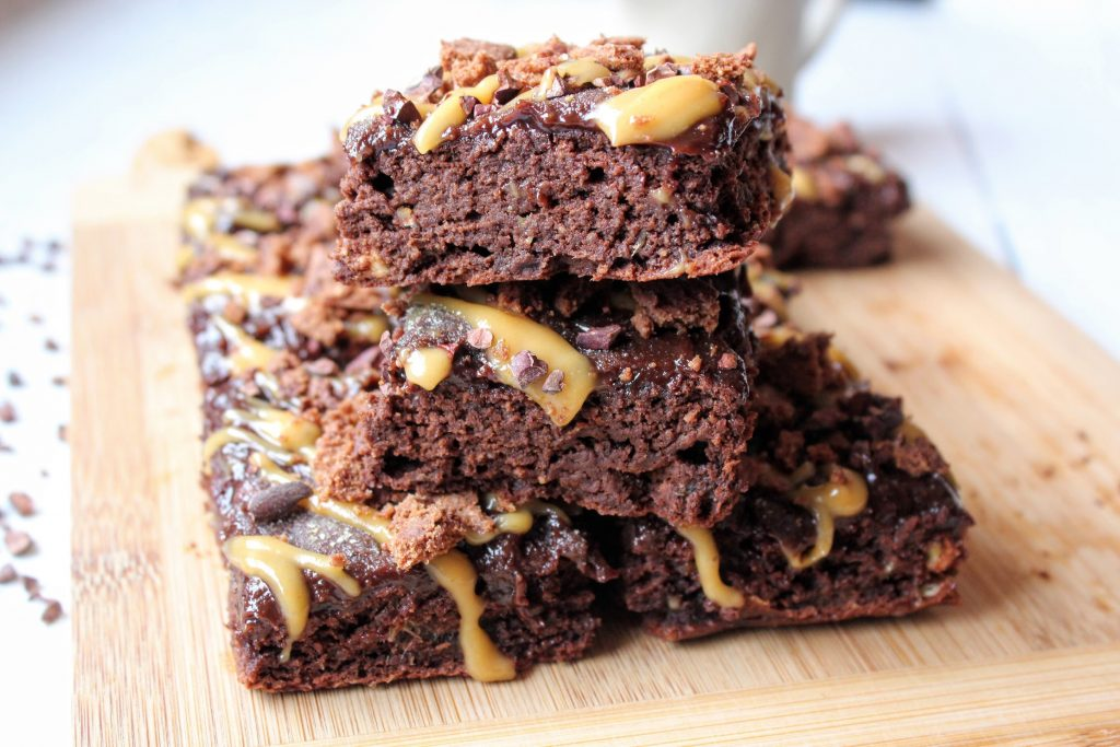 Brownies de chocolate com cobertura dupla - SpamellaB's Health Food Blog 5