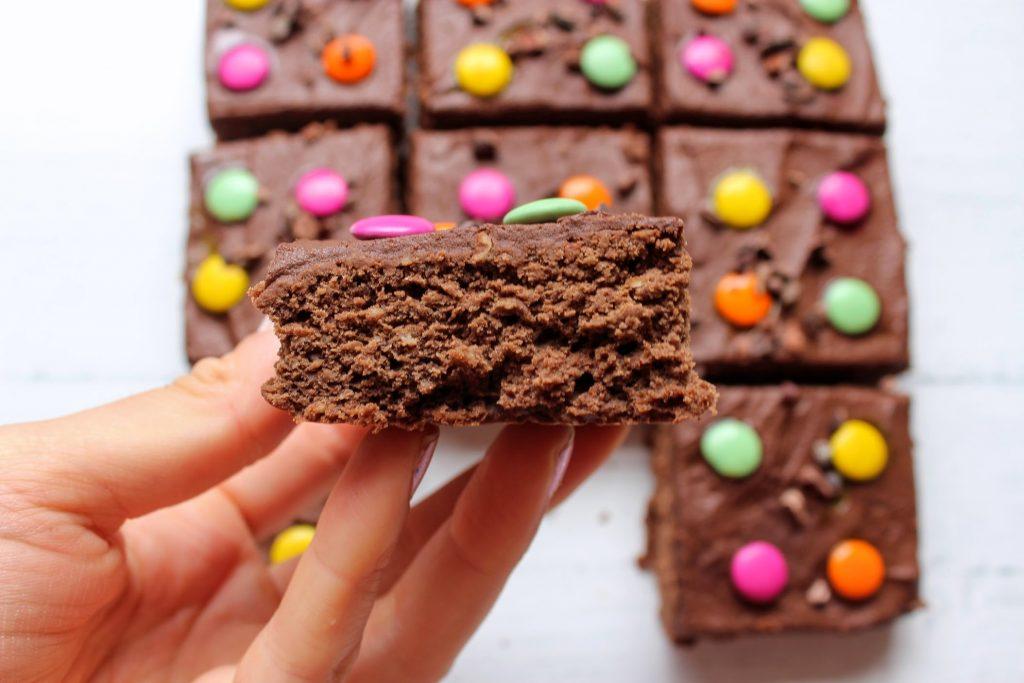 Brownies divertidos de chocolate - SpamellaB's Health Food Blog 4