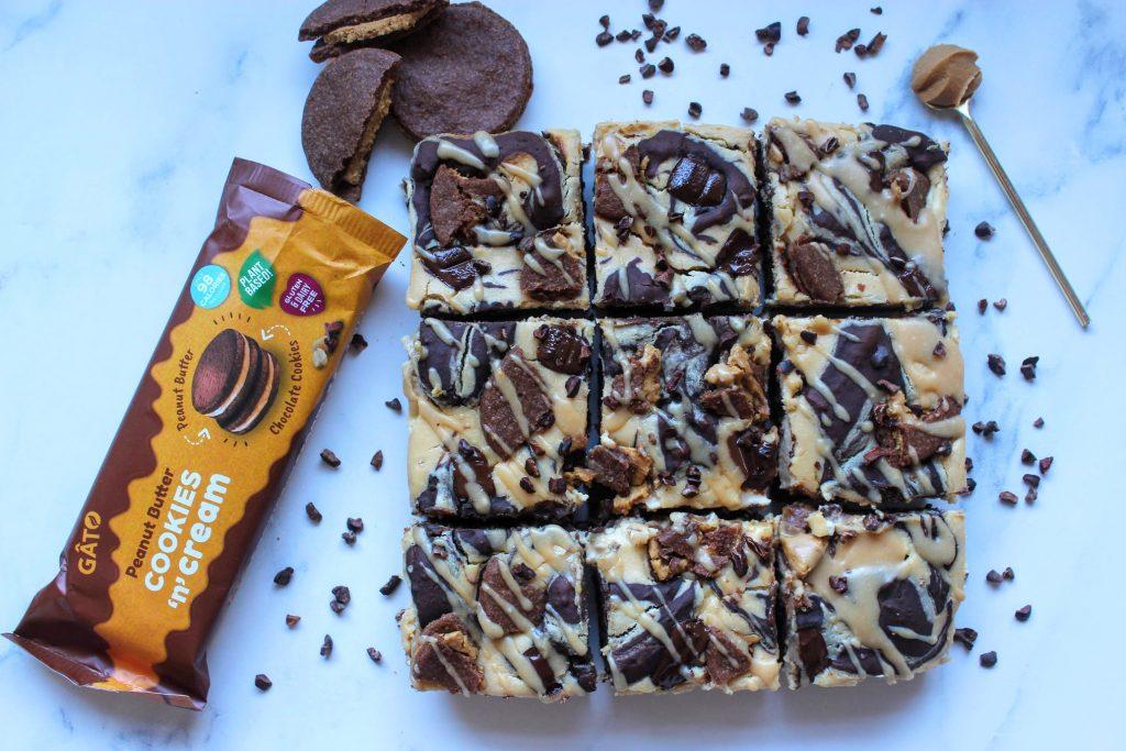 Brownies de Cheesecake de Manteiga de Amendoim Vegan - SpamellaB's Health Food Blog 24
