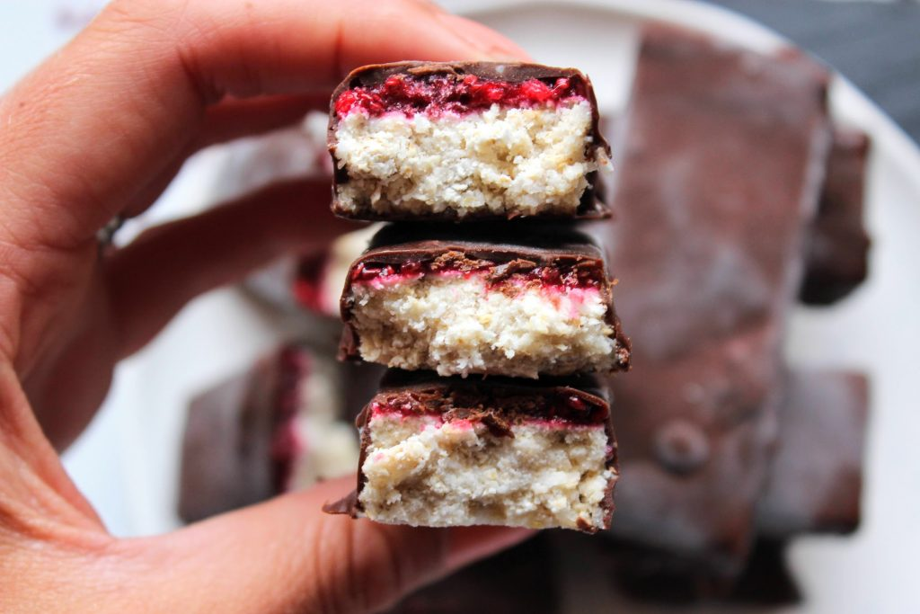 Raspberry Bounty Bars - Blog de alimentos saudáveis ​​do SpamellaB 4