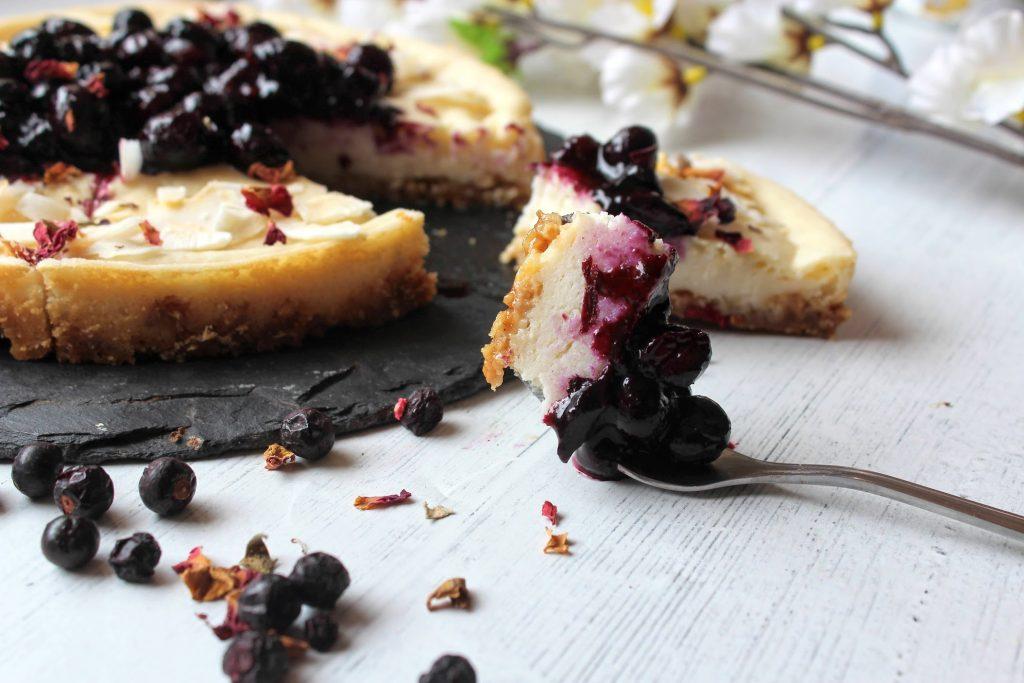 Blueberry Vanilla Vegan Cheesecake - Blog de comida saudável do SpamellaB 6