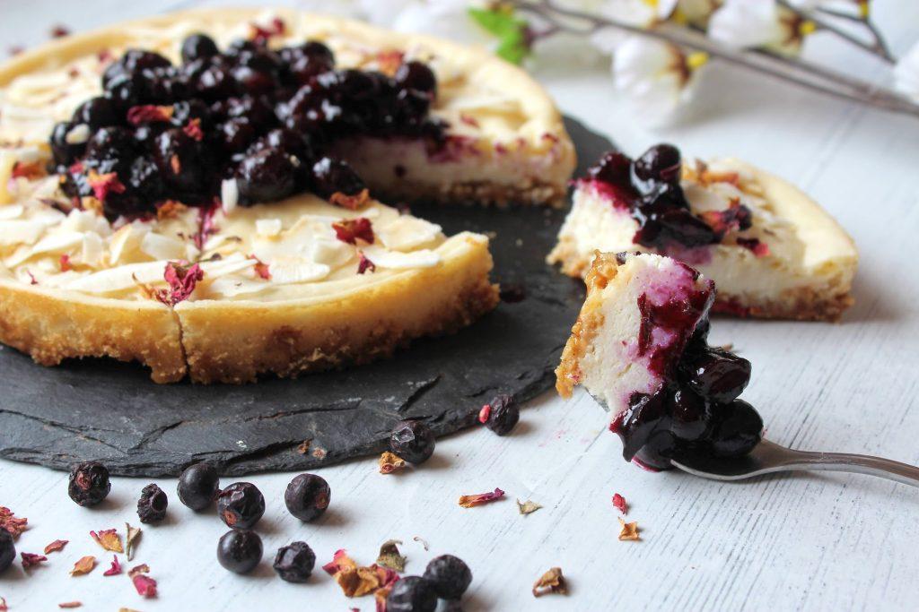 Blueberry Vanilla Vegan Cheesecake - Blog de comida saudável do SpamellaB 5