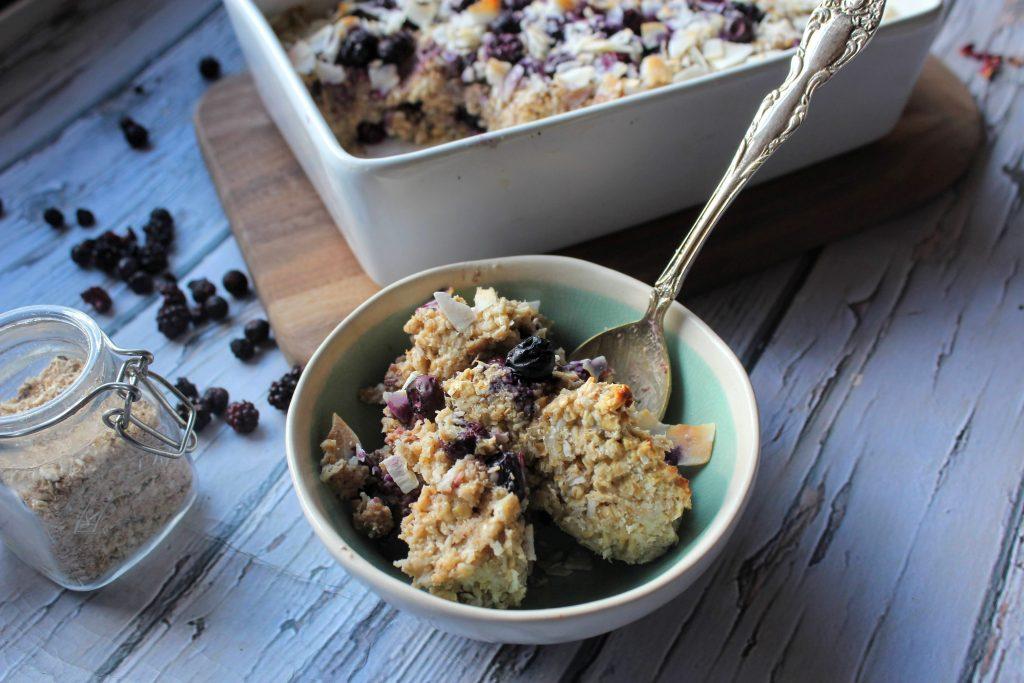 Blueberry & Coconut Baked Oats - SpamellaB's Health Food Blog 3