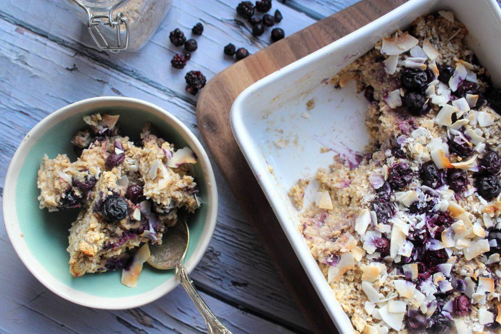 Blueberry & Coconut Baked Oats - SpamellaB's Health Food Blog 4