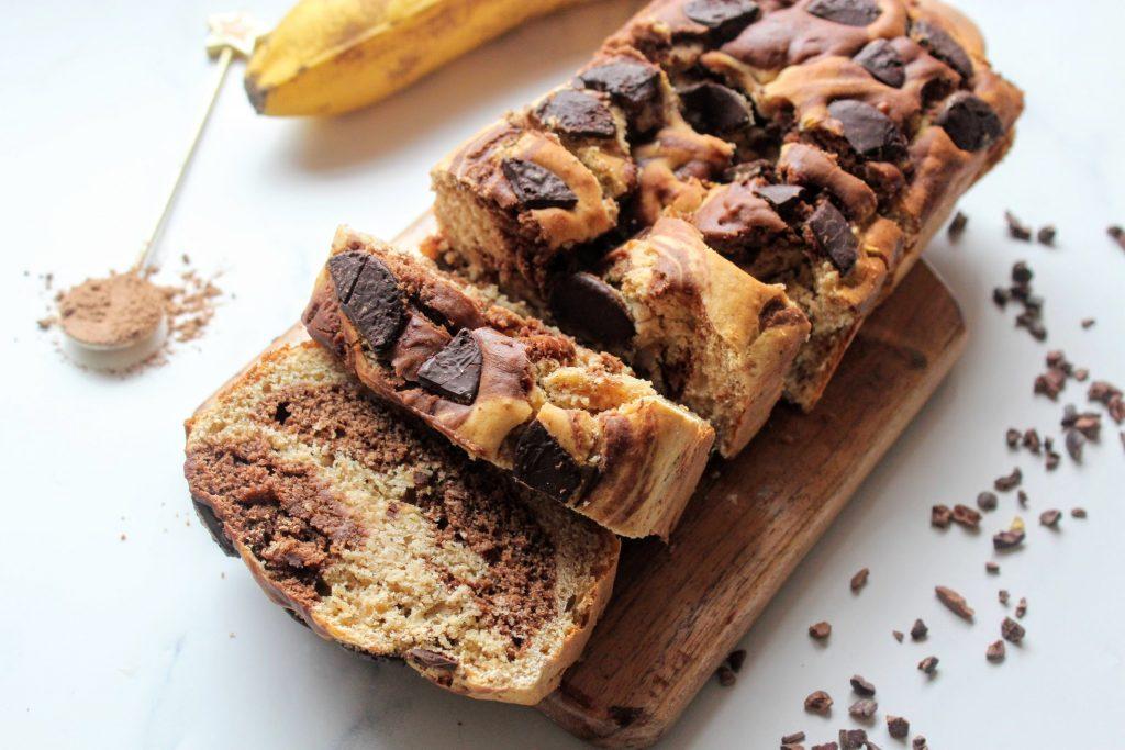 Pão de Banana Redemoinho de Chocolate - Blog de comida saudável de SpamellaB 4