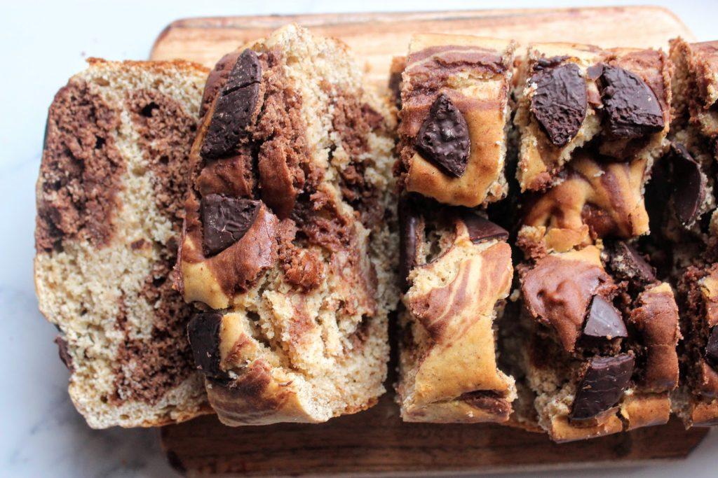 Pão de Banana Redemoinho de Chocolate - Blog de comida saudável de SpamellaB 5