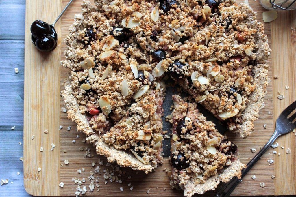 Torta de cereja, pêra e amêndoa - Blog de comida saudável do SpamellaB 4
