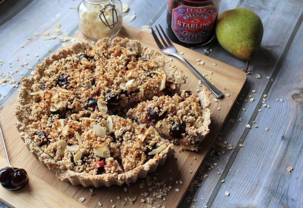 Torta de cereja, pêra e amêndoa - Blog de comida saudável do SpamellaB 3