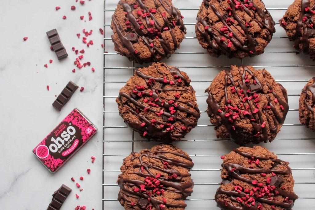 Biscoitos de chocolate com framboesa - Blog de comida saudável do SpamellaB 2