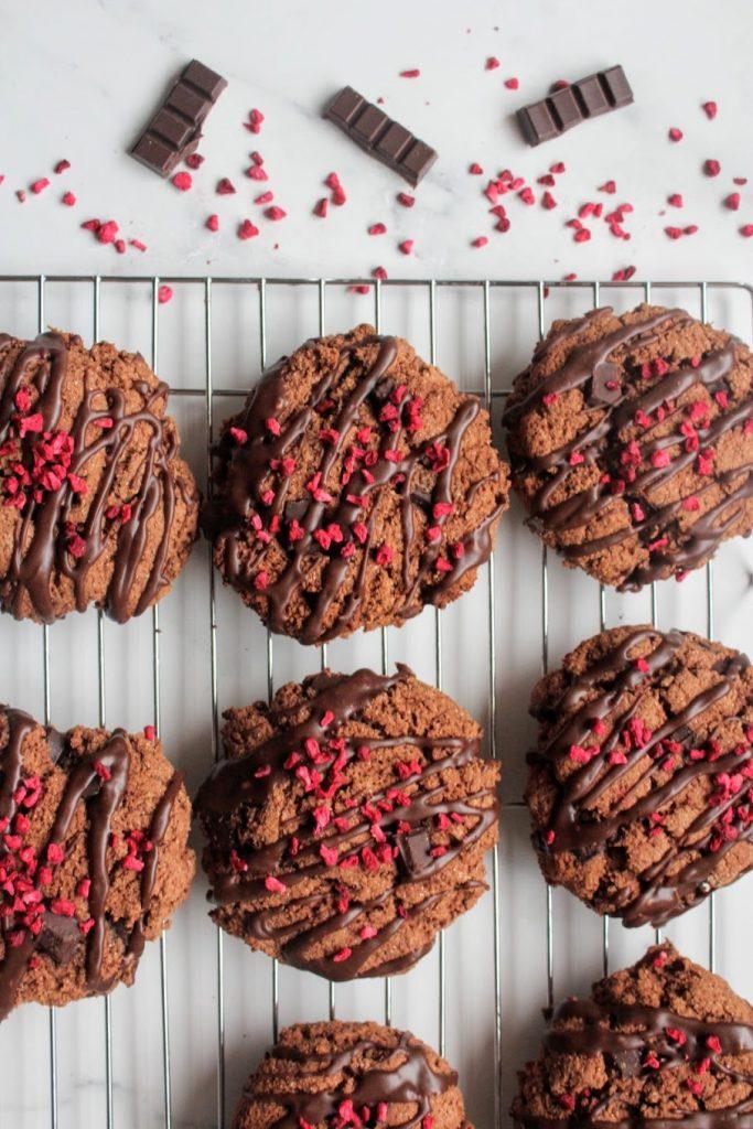 Biscoitos de chocolate com framboesa - Blog de comida saudável do SpamellaB 4